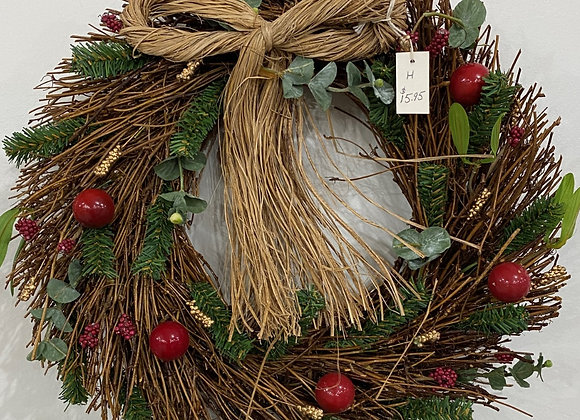 STRAW BOW MULTI WREATH MEDIUM