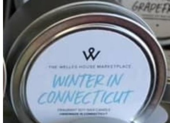 WINTER IN CT CANDLE TIN