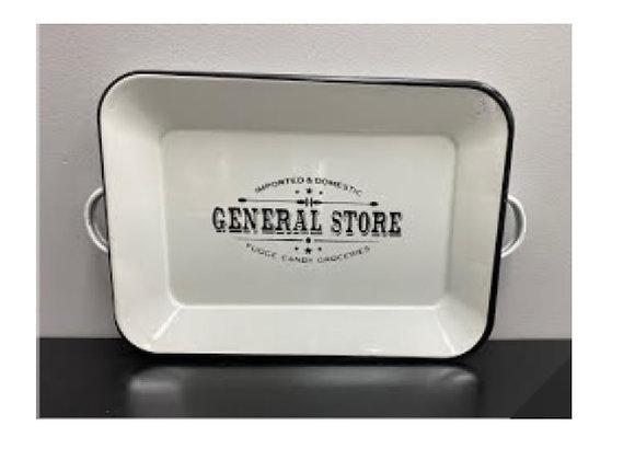 GENERAL STORE ENAMEL TRAY