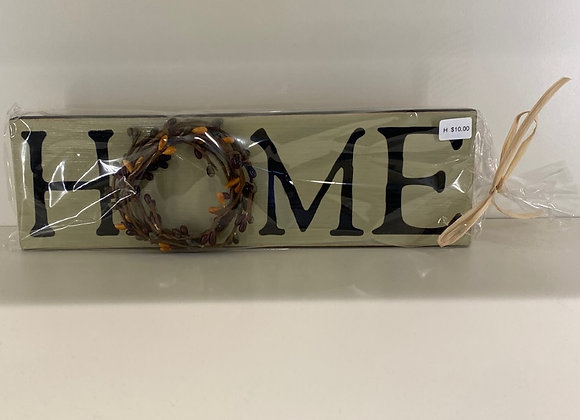 HOME PIP BERRY WREATH SIGN