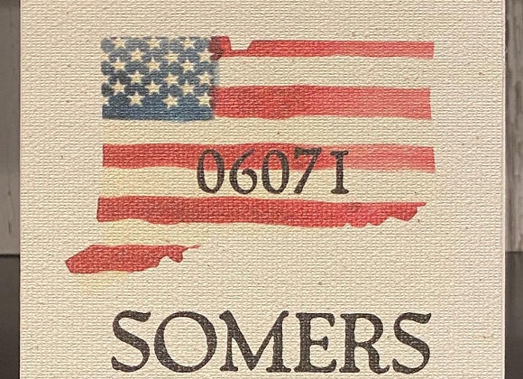 SOMERS CT BLOCK SIGN