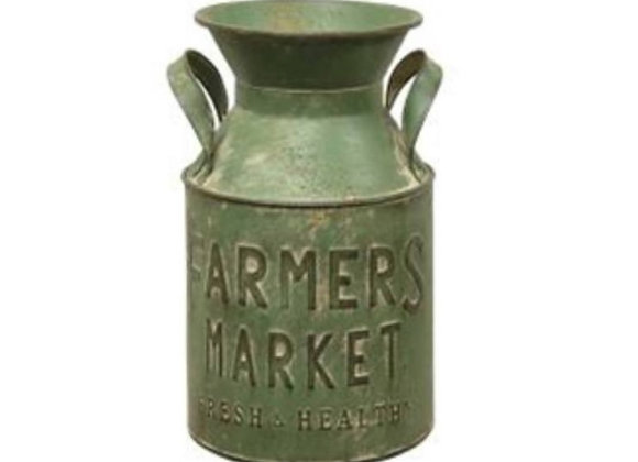 GREEN FARMERS MARKET MILK CAN