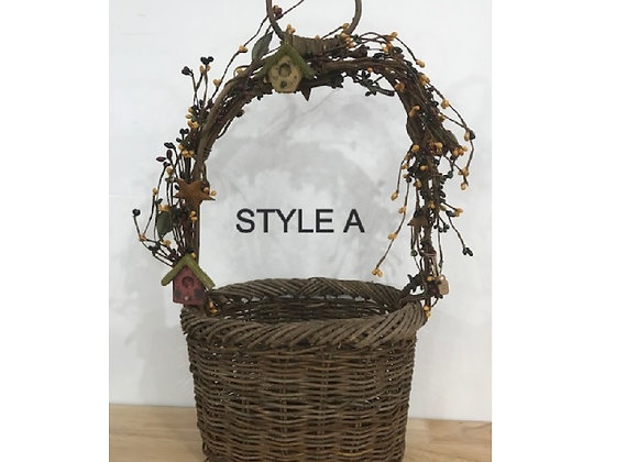 LARGE TWIG BASKETS ~ 9 STYLES