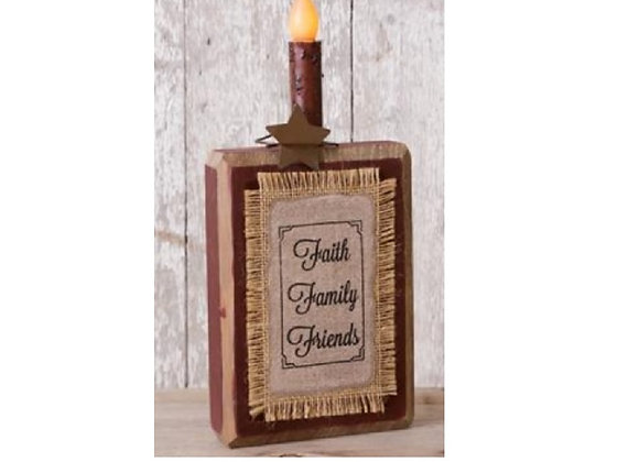 FAITH FAMILY FRIENDS BLOCK SIGN