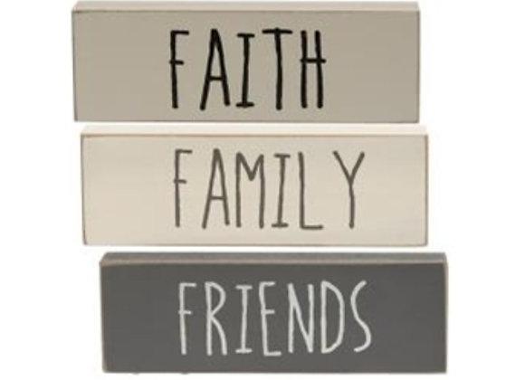 FAITH FAMILY FRIENDS BLOCKS SET