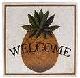 Pineapple Welcome Sign at Tulips Gift Shop