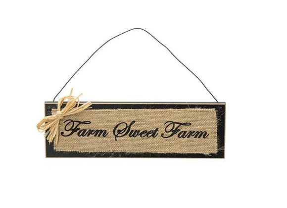 BURLAP FARM SIGN