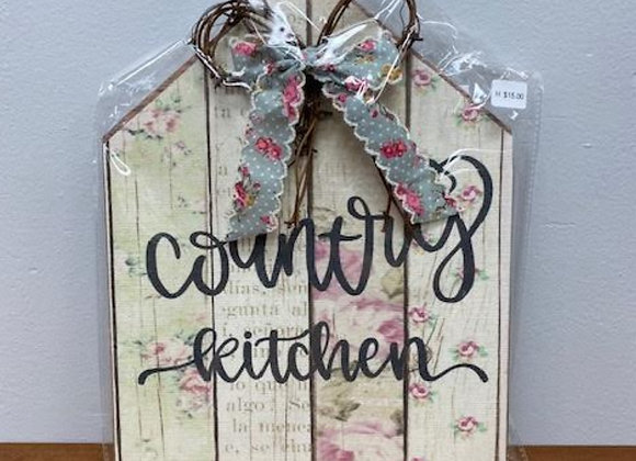 COUNTRY KITCHEN PLAQUE