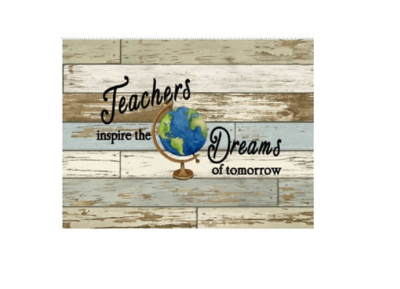 TEACHER GLOBE ART
