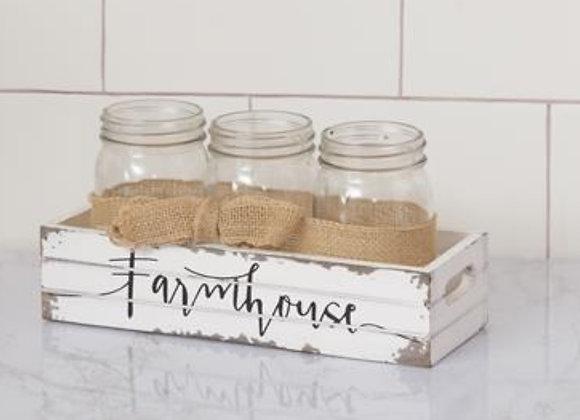 FARMHOUSE MASON JAR HOLDER