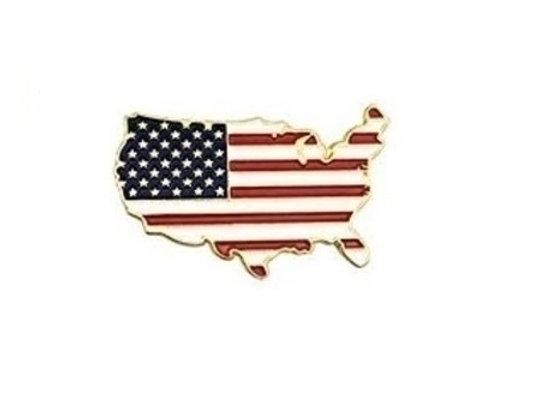 FLAG USA GOLDTONE PIN