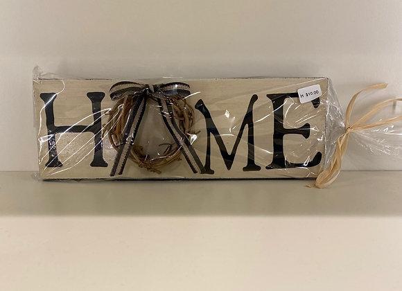 HOME VINE WREATH SIGN