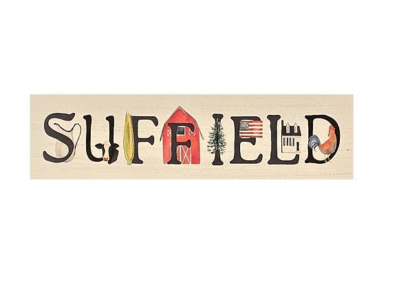SUFFIELD TOWN WOOD SIGN