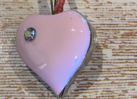 PINK HEART PENDANT BOOKMARK