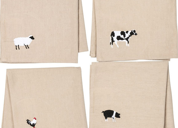 FARM ANIMAL DINNER NAPKINS