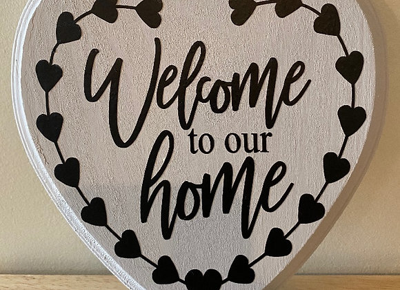 WELCOME HOME HEART SIGNS