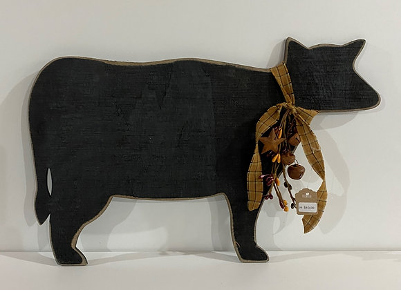 LARGE COW HANGING/GOLD