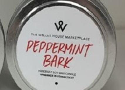 PEPPERMINT BARK CANDLE TIN
