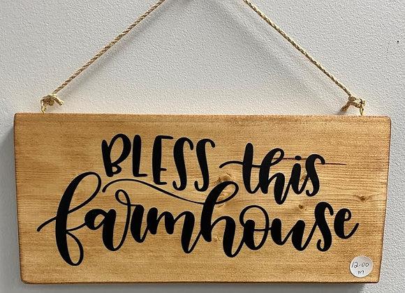 BLESS THIS FARMHOUSE SIGN