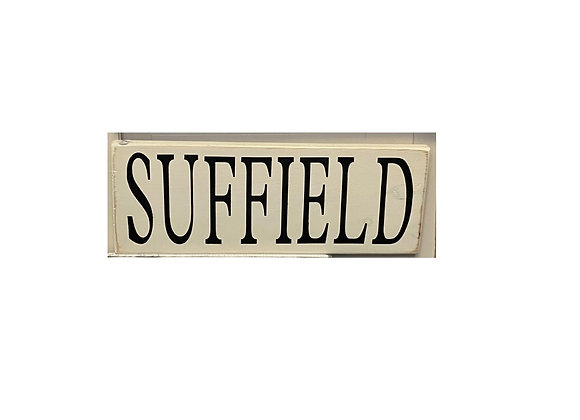 SUFFIELD WOOD TOWN SIGN