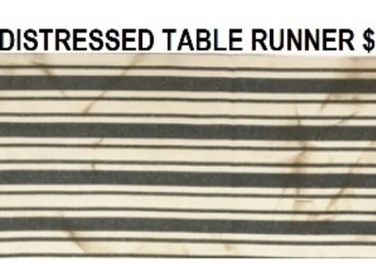 DISTRESSED TABLE RUNNER