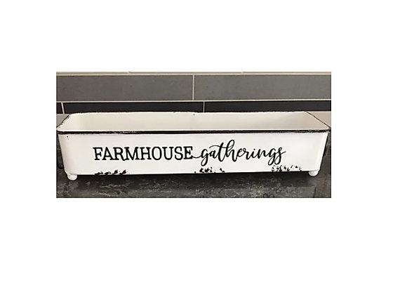 FARMHOUSE GATHERING ENAMEL TRAY