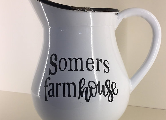 SOMERS ENAMEL PITCHER