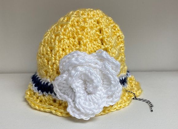 CROCHET HAT YELLOW SIZE 3 MONTHS
