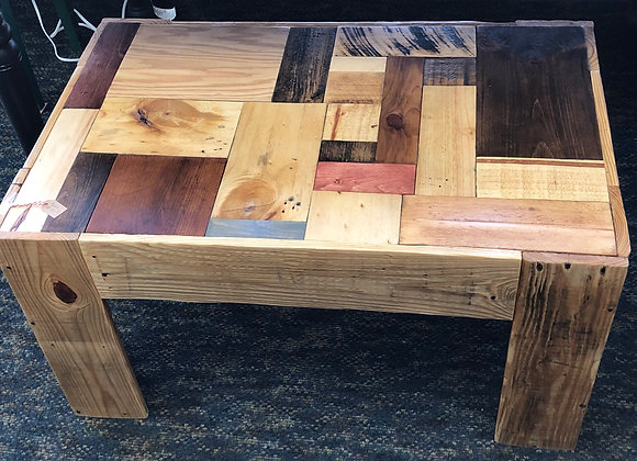 PATCHWORK WOOD COFFEE TABLE
