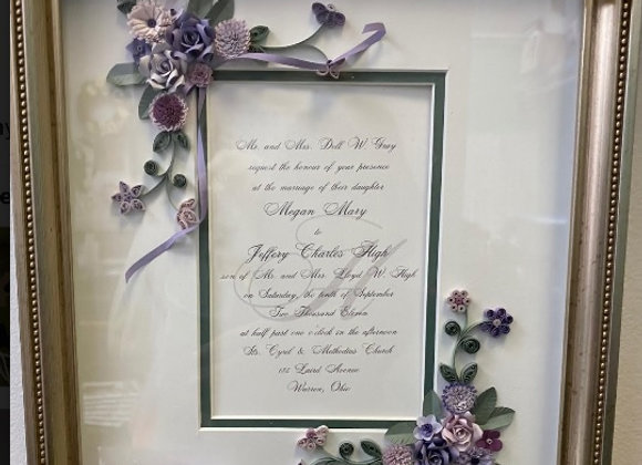 WEDDING INVITATION QUILL FRAME