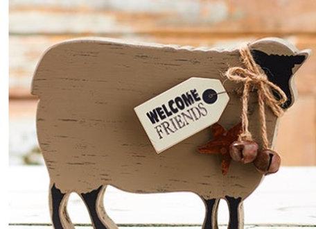 FARMHOUSE SHEEP FREE STANDING BLOCK