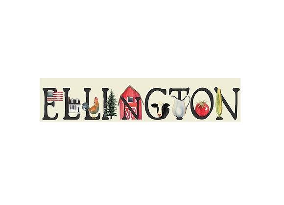ELLINGTON TOWN WOOD SIGN