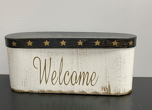 WELCOME OVAL CONTAINER