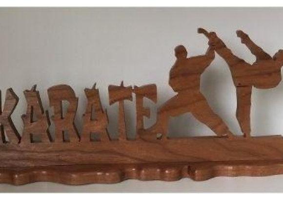 KARATE ART WOOD STAND