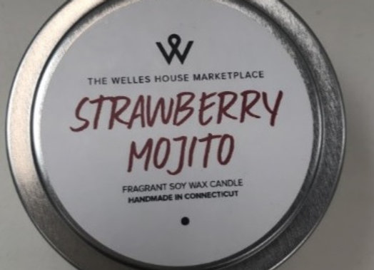 STRAWBERRY MOJITO CANDLE TIN