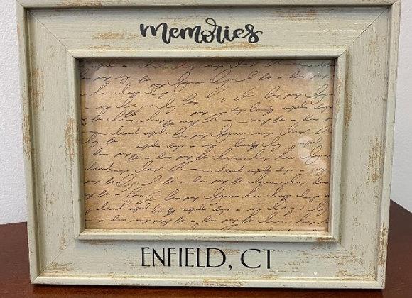 ENFIELD MEMORIES 5 X 7 FRAME