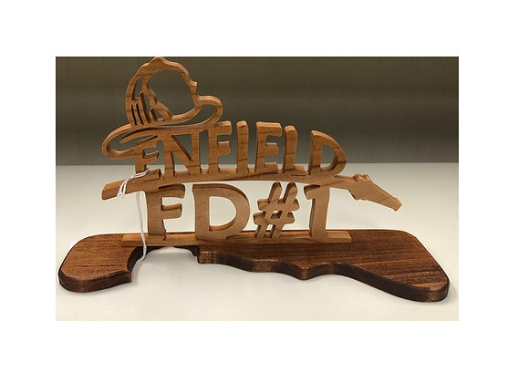 ENFIELD FIRE DEPT. CARVING