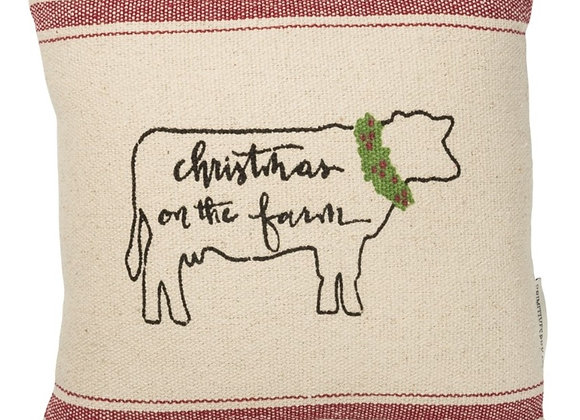 CHRISTMAS ON THE FARM PILLOW