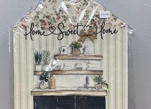 HOME SWEET HOME KITCHEN PLAQUE