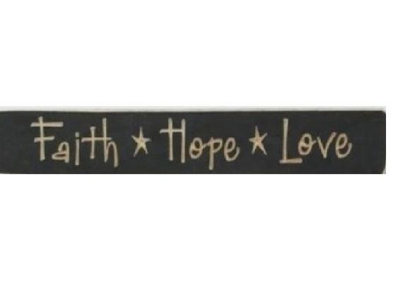 FAITH HOPE LOVE BLOCK STICK