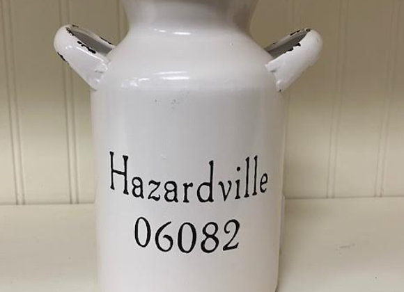 HAZARDVILLE TALL ENAMEL MILK CAN