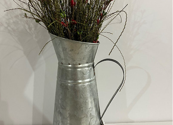 BLACK/TIN SPRIG BERRY FLORAL