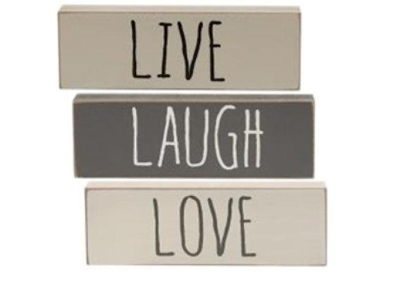 LIVE LOVE LAUGH BLOCK SET