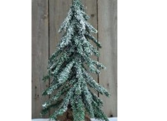"""FROSTED TREE 24"""" WITH BURLAP BASE"""