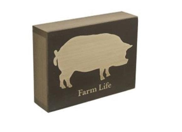 "FARM LIFE ""PIG"" BLOCK"