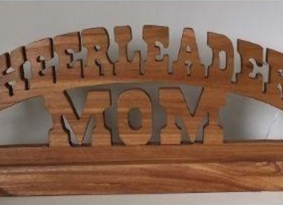 CHEERLEADER MOM WOOD STAND