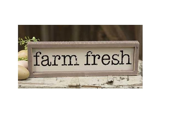 FARM FRESH SITTER OR WALL SIGN
