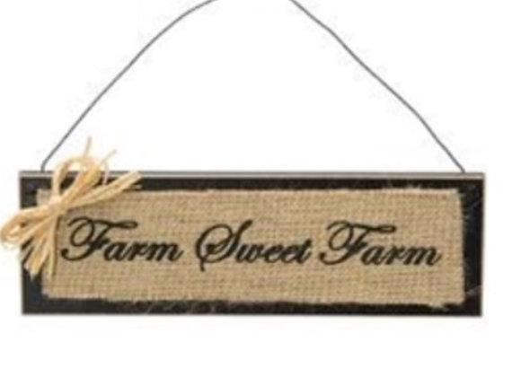 BURLAP FARM SWEET FARM SIGN