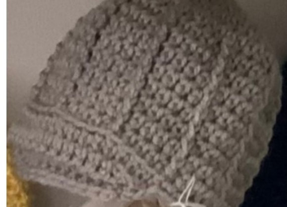 CROCHET HAT SOLID GRAY