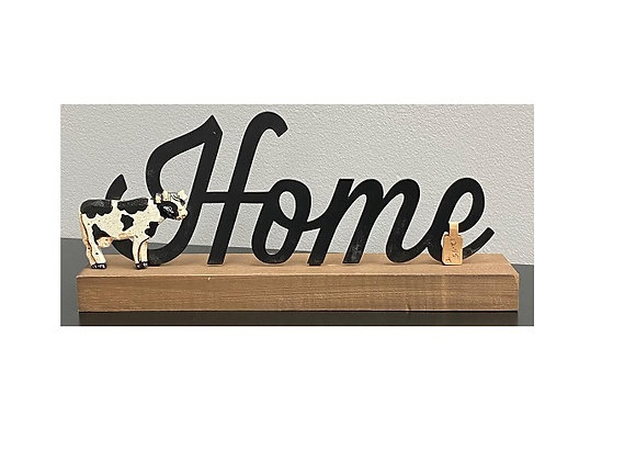 COW HOME SITTER SIGN